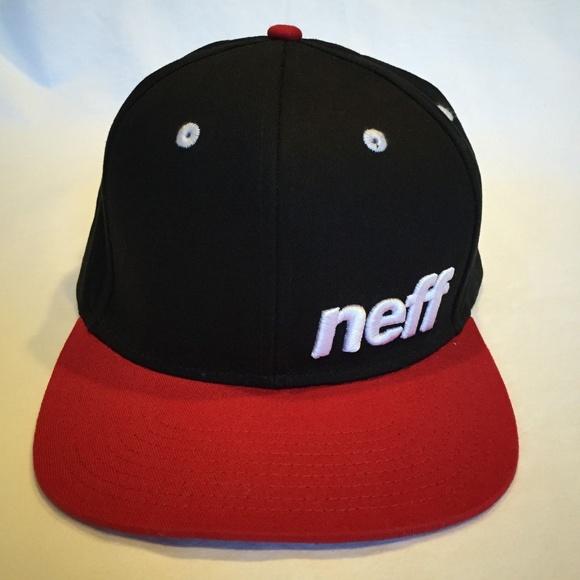 8e100e1c94c Snapback NEFF Hat Black Red White NWT